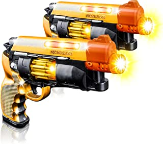 Blade Runner Toy Pistol by ArtCreativity Toy Gun for Kids with LED and Sound Effects, Design, Batteries Included, Sturdy Plastic Design, Great Gift Idea for Boys and Girls - 2 Pistols