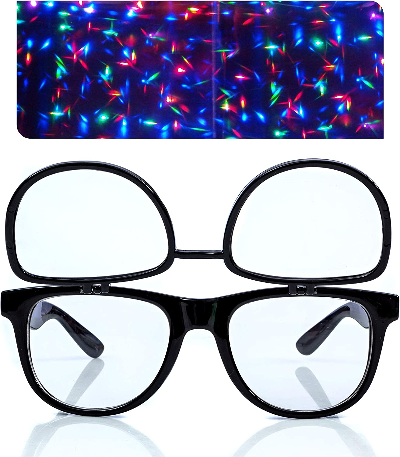 Luxury Premium Clear Glasses with Diffraction Flip for Tulsa Mall F - Ideal Lenses