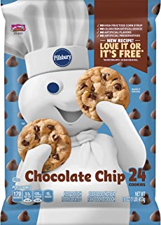 Pillsbury Ready to Bake Refrigerated Cookies Chocolate Chip with Hershey's Chocolate Chips 24 Count 16.0 oz Pack