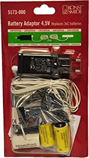 Konstsmide Christmas Lights Battery Eliminator/Power Adapter Products 3 x C 1.5V Batteries 4.5V/White Cable 3m