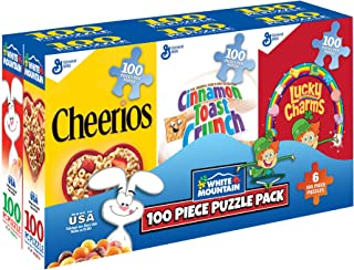 White Mountain Puzzles Mini Cereal Boxes-100 Piece Puzzles-Six Pack of Puzzles