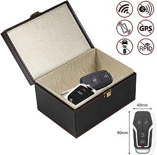 AMIGOB Caja de Bloqueo para Llaves de Coche Bloqueador WiFi/NFC para teléfono móvil, Tarjetas de Crédito, Antirrobo, Pequeño