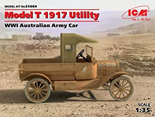 PLASTIC MODEL BUILDING VEHICLE KIT MODEL T 1917 UTILITY, WWI AUSTRALIAN ARMY CAR 1/35 ICM 35664