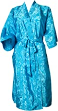 Artiwa SALE 70% OFF Unisex Lightweight Silk Kimono Bathrobe for Women & Men Rose Light Blue