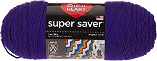 Red Heart E300.0356 Super Saver Yarn, Amethyst