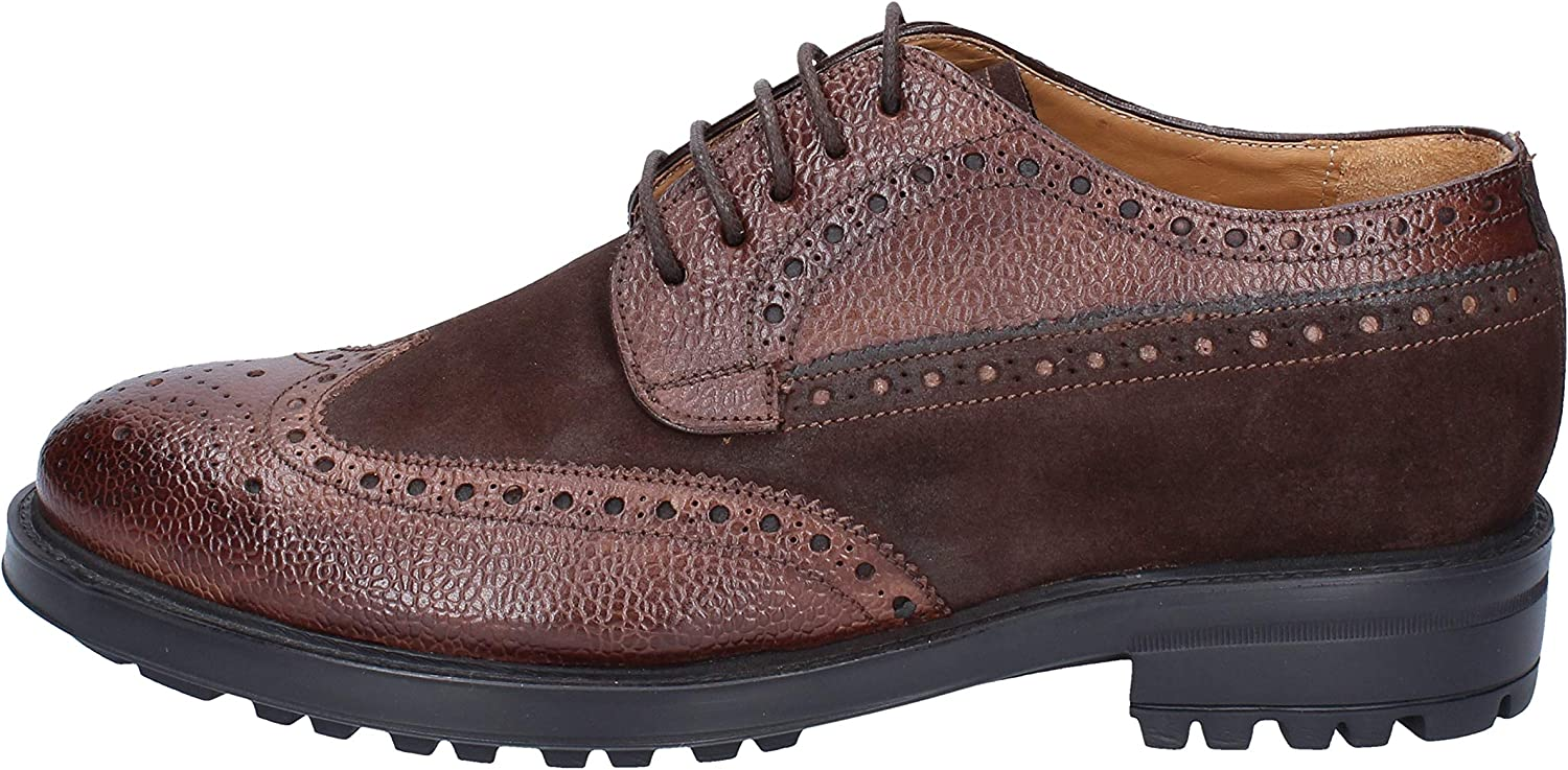 GIULIO MORETTI Oxfords-shoes Mens Suede Brown