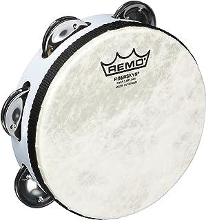 REMO Tambourine ، Pretuned ، قطر 6 اینچ ، 6 جفت Jingles x 1 ردیف ، QUADURA سفید