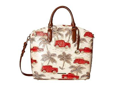 Brahmin Copa Cabana Large Duxbury Satchel (Ember) Satchel Handbags