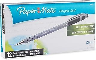 Papermate Flex Grip 0.8Mm Pen, Black 12-pack