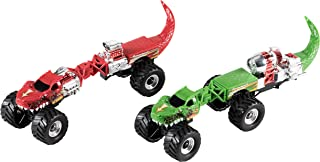 Juvale Dinosaur Car Toys - 2-Pack Kids Take-Apart Dino Car, 6 Pieces per Set, Build Your Own Monster Truck Toy, Birthday, for Boys 3 Years and Above, Red and Green, 10 x 2.7 x 2.8 inches
