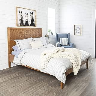 chevron bed frame