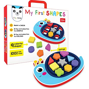 PLAY PANDA My First Shapes : Snail. A Fun Introduction to Shapes and Colors. Early Skill Development Like Motor Skills, Hand-Eye Coordination, Color and Shape Recognition. (Age 2+)