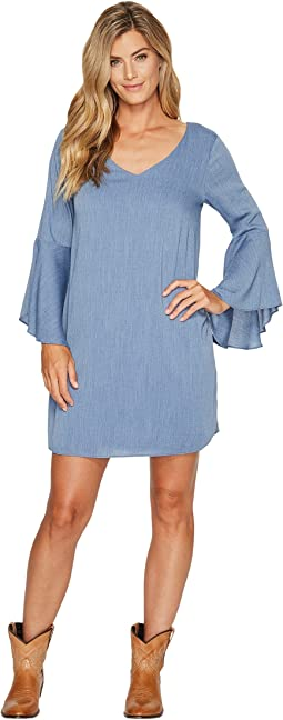 Wrangler - V-Neck Flutter Sleeve Dress