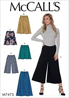 McCall's Patterns M7475E50 Misses' Flared Skirts, Shorts and Culottes