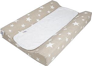 color beige dise/ño de estrellas 48 x 70 cm Cambiador plastificado Belino 608651