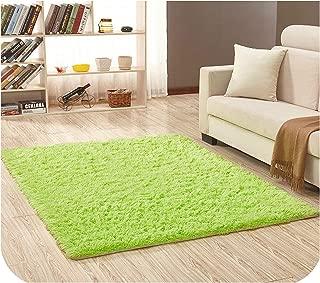 Drem-Wardrobe Super Soft Silk Wool Rug Indoor Modern Shag Area Rug Silky Rugs Bedroom Floor Mat Baby Nursery Rug Children Carpet,Green Fruit,50X80Cm
