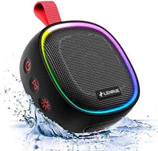 $26 » Sponsored Ad - LENRUE F9 Shower Speaker, IPX7 Waterproof Bluetooth Speaker, Portable Wireless Speaker with Lights TWS for ...