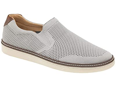 Johnston & Murphy McGuffey Slip-On Knit Sneaker (Light Gray) Men