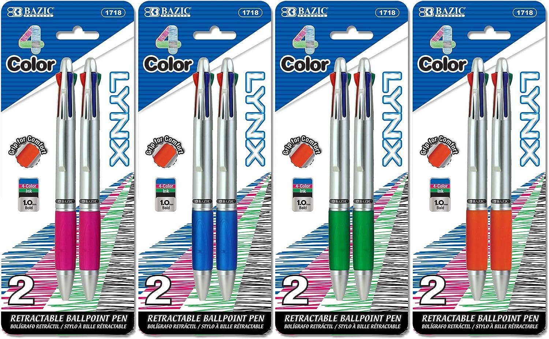 BAZIC Ballpoint Pen Multicolor Grip Retractable quality assurance Translated Soft Barrel