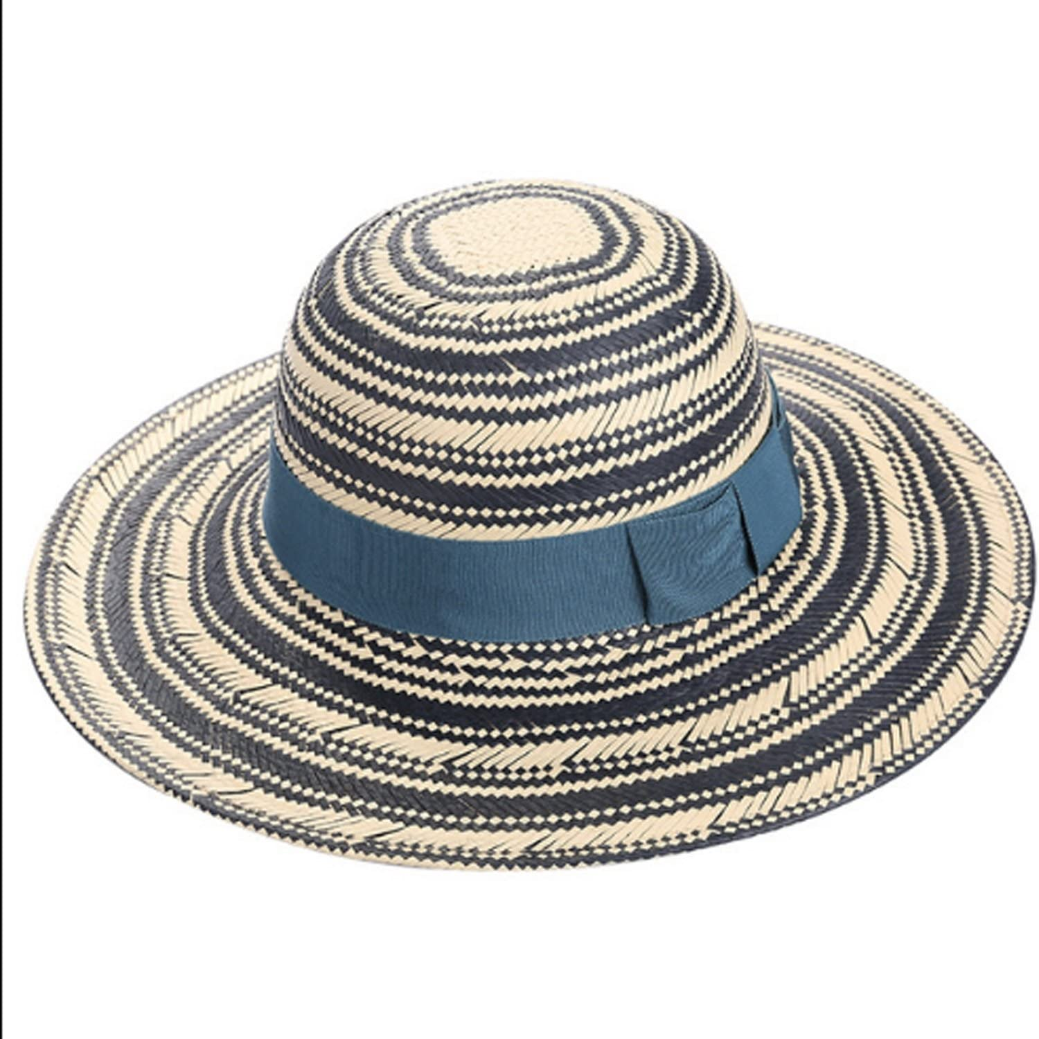 Hat Women Summer Leisure Classic Straw Hat Fashion Visor Travel Sunscreen (color   Multicolord, Size   M)