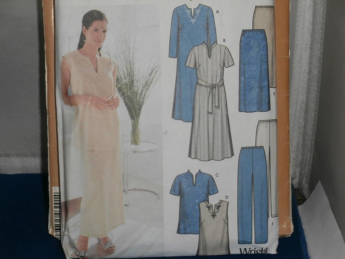 Simplicity Sewing Pattern 7168 Top Skirt Pants Tie Belt 18W-24W