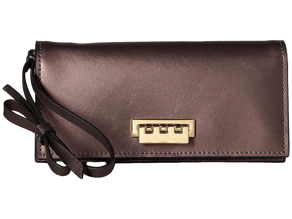 ZAC Zac Posen Earthette Wristlet Wallet (Gilded Fig) Wristlet Handbags