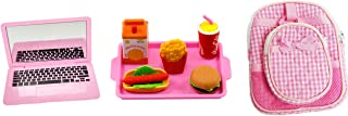 Brittany's My Pink School Set Compatible with American Girl Dolls with Laptop, Backpack, Lunch Box, and Lunch Tray