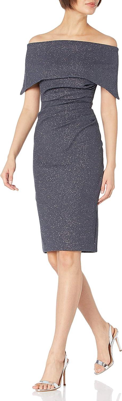 Vince Camuto Women's Glitter Knit Off The Shoulder Sheath Dress