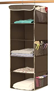 simplehouseware 6 shelves hanging closet organizer bronze