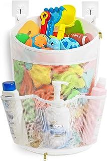 Mesh Bath Toy Organizer with YKK Zipper, Multiple Ways to Hang, Ultra Large Capacity & Large Opening, Bathroom Toy Holder,...