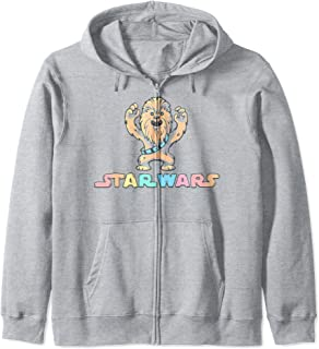 Star Wars Chewbacca Cartoon Title Logo Zip Hoodie