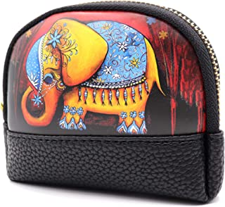 Large Coin Purse for Women - Cute Animal Coin Purse Pouch with Strap and Smooth Metal Zipper