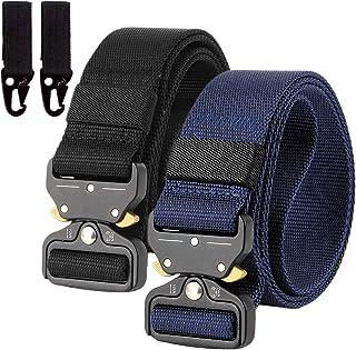 2-częściowy pasek nylonowy Canvas Belt, szybkie zapięcie, styl wojskowy, nylonowy pasek z metalową klamrą, wielokrotnego u...