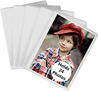 Iconikal 24-Photo Clear Cover 5x7 Photo Album, 4-Pack