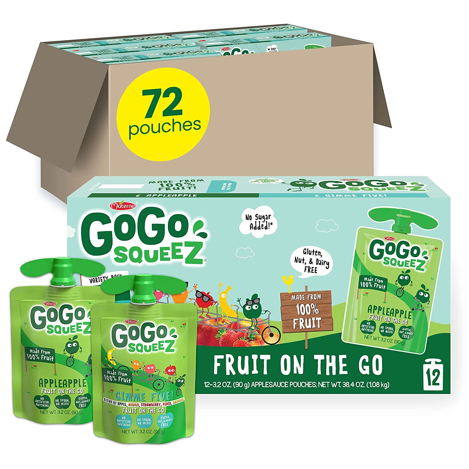 GoGo Overseas parallel import regular item squeeZ Fruit on Clearance SALE Limited time the Go Apple Fi Pack Gimme Variety