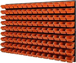 Wandrek Stapelboxen - 1152 x 780 mm - 126 stuks. Dozen opslagsysteem gereedschapsgatwand schudplank (oranje)