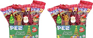 PEZ Christmas Winter Candy Dispensers Individually Wrapped PEZ Candy and Dispensers with Tru Inertia Kazoo (24 Pack)