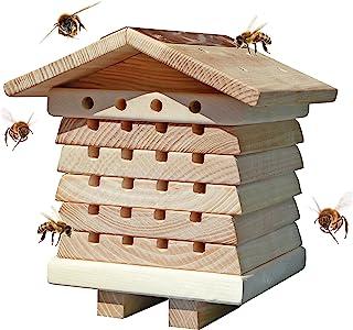 Wildlife World Ltd SBH1 Interactive Wooden House Pollinator Bee Management System (White)