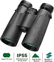 Bresser 10x42 Binoculars for Adults Professional High Powered Compact Binoculars with Low Light Vision Perfect for Travel Bird Watching Hunting Hiking Theater Concerts Sightseeing