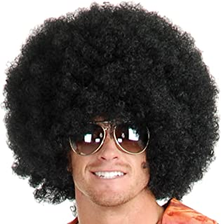 United States of Oh My Gosh #1 Short Fluffy Afro Wigs Heat Resistant Synthetic Unisex Men Women Cosplay Anime Fancy Funny Wigs for Party
