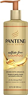 Pantene, Argan Oil Shampoo, Sulfate Free, Pro-V Gold Series, for Natural and Curly Textured Hair, 8.5 fl oz