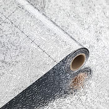 Papel Pared Autoadhesivo Papel pintado Autoadhesivo Cocina de alta temperatura Papel de aluminio a prueba de aceite Papel de aluminio Mantel Papel pintado Etiqueta Impermeable A prueba de humedad Anti