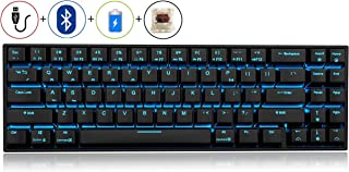 RK71 Mechanical Keyboard 71 Keys 70% LED Backlit Compact Gaming Keyboard,Tenkeyless Wired/Wireless Bluetooth Portable Gaming/Office with Stand-Alone Arrow Keys for Mac Windows (Brown Switch-Black)