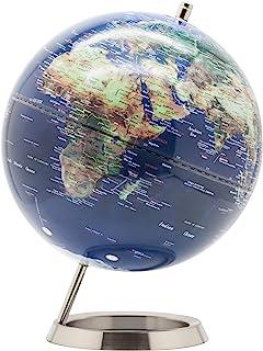 Exerz 25cm World Globe - RVS Ring Staand, Verpakking in premier Kraft Box, Perfect om cadeau te geven - Metallic kleur (bl...