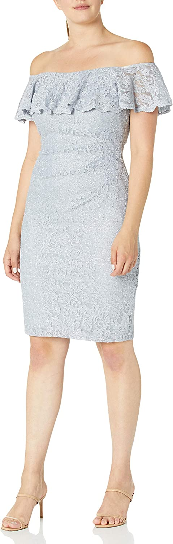 Jessica Howard Women's Flounce Collar Sheath Dress