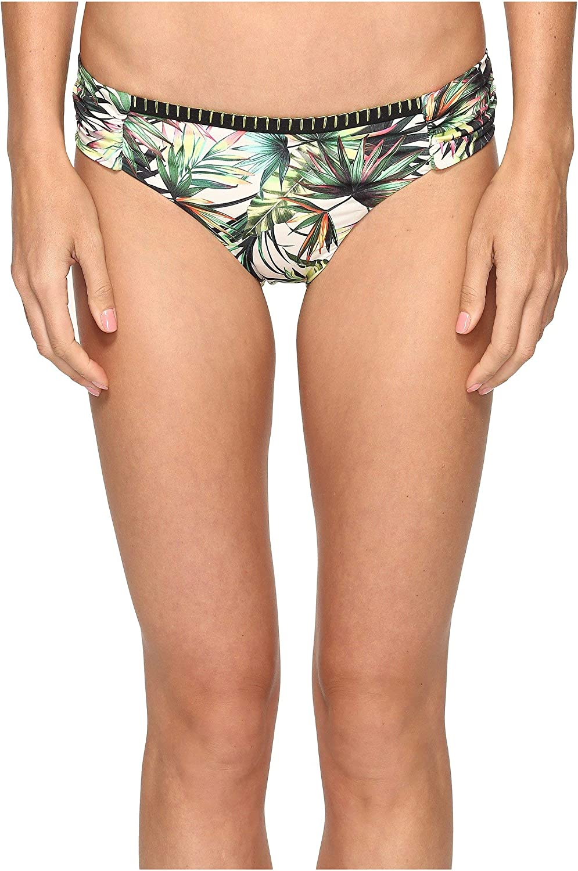 Lucky Brand Junior's Coastal Palms Side Sash Hipster Bikini Bottom