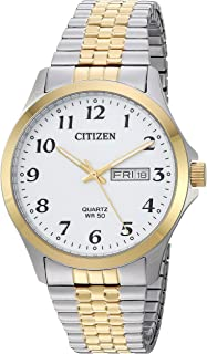 Quartz Mens Watch, Stainless Steel, Classic, Two-Tone...