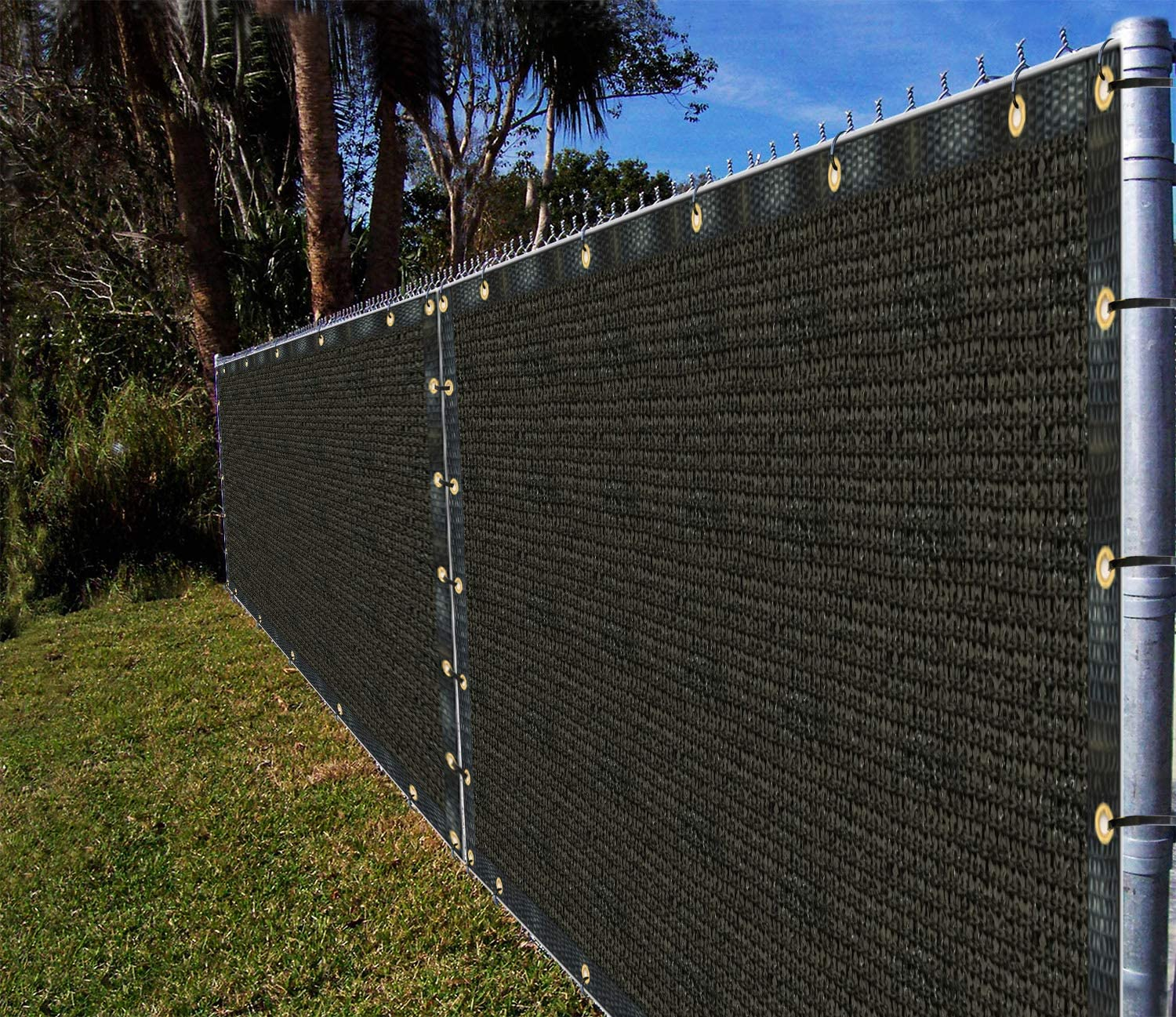 Virginia Bargain Beach Mall Ifenceview 4'x5' to 4'x50' Black Privacy Cloth Shade Scree Fence