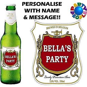 Design 2 Party People 12 x /ÉTIQUETTE DE Bouteille DE BI/ÈRE PERSONNALIS/ÉE Tout NOM ET Message