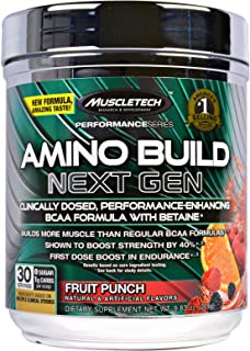 Muscletech Amino Build Next Gen, Fruit Punch, 10.00 oz (284 g)